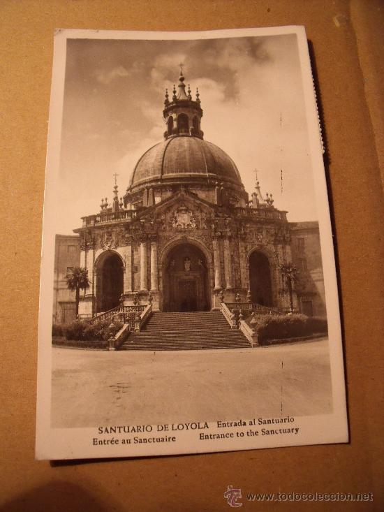 ANTIGUA POSTAL DE LA ENTRADA DEL SANTUARIO DE LOYOLA. CIRCULADA AÑO 1957. POSTAL 316 (Postales - España - País Vasco Moderna (desde 1940))