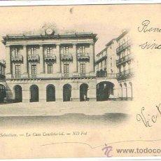 Postales: POSTAL MUY ANTIGUA SAN SEBASTIAN, CIRCULADA, SELLADA Y RESELLADA, FECHADA 1904, EDIT: N.D. . Lote 25983066