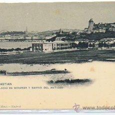 Postales: POSTAL MUY ANTIGUA DE SAN SEBASTIAN, EDIT. HAUSER Y MENET, SIN CIRCULAR, AÑOS ENTRE 1903 Y 1908 . Lote 26737819