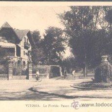 Postales: VITORIA(ÁLAVA).-LA FLORIDA: PASEO DE LA SENDA. Lote 16673749
