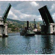 Postales: BONITA POSTAL - BILBAO - PUENTE BASCULANTE DEL GENERALISIMO. Lote 26288322