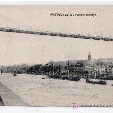 Postales: TARJETA POSTAL DE PORTUGALETE Y PUENTE VIZCAYA. L. G. BILBAO. Lote 16914021