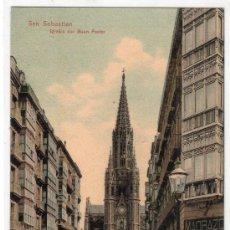 Postales: TARJETA POSTAL DE SAN SEBASTIAN. IGLESIA DEL BUEN PASTOR. DR. TRENKLER CO. LEIPZIG. Lote 16931274