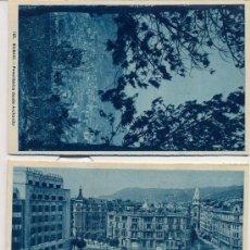 Postales: BILBAO. TRES POSTALES, TONOS AZULES, C. 1960-1965. Lote 26314496