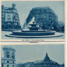 Postales: BILBAO. TRES POTSALES, TONOS AZULES, C. 1960-1965. Lote 23473159