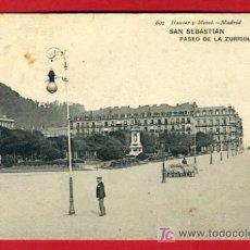 Postales: SAN SEBASTIAN, GUIPUZCOA, PASEO DE LA ZURRIOLA, P34113. Lote 17021535