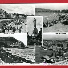 Postales: SAN SEBASTIAN, GUIPUZCOA, CINCO VISTAS, P34214. Lote 17039213