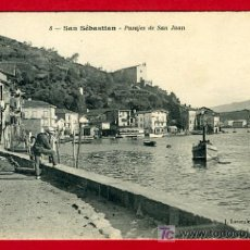 Postales: SAN SEBASTIAN, GUIPUZCOA, PASAJES DE SAN JUAN, P34625. Lote 17156174
