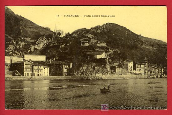 PASAJES, GUIPUZCOA, VISTA SOBRE SAN-JUAN, P35128 (Postales - España - Pais Vasco Antigua (hasta 1939))