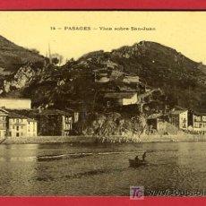 Postales: PASAJES, GUIPUZCOA, VISTA SOBRE SAN-JUAN, P35128. Lote 17215945