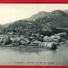 Postales: PASAJES, GUIPUZCOA, SAN PEDRO, VISTA SACADA DE SAN JUAN, P35135. Lote 17216125