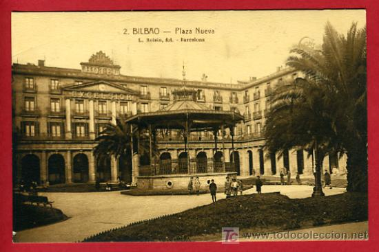 BILBAO, VIZCAYA, PLAZA NUEVA, P35189 (Postales - España - Pais Vasco Antigua (hasta 1939))