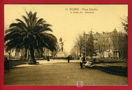 BILBAO, VIZCAYA, PLAZA ELIPTICA, P35225 (Postales - España - Pais Vasco Antigua (hasta 1939))