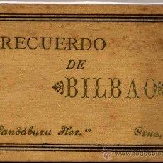 Postales: ÁLBUM CON 16 POSTALES DE RECUERDO DE BILBAO.. Lote 17315999