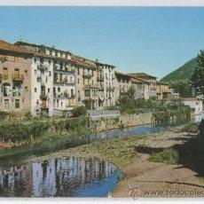 Postales: TARJETA POSTAL DE AZPETIA VISTA PARCIAL Y RIO UROLA GUIPUZCOA. Lote 17316091