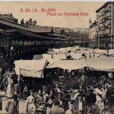 Postales: BILBAO(VIZCAYA).-PLAZA DEL MERCADO VIEJO. Lote 17316471