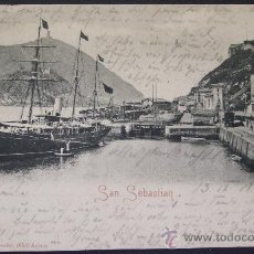 Postales: SAN SEBASTIÁN – EL MUELLE – ROMMLER & JONAS, DRESDEN. Lote 23291440