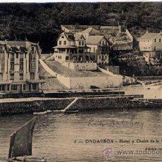 Postales: ONDARROA(VIZCAYA).-HOTEL Y CHALET DE LA BAHÍA. Lote 17336460