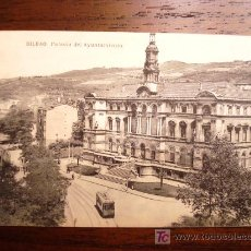 Postales: POSTAL ANTIGUA BILBAO PALACIO DEL AYUNTAMIENTO. L.G.. Lote 26948700