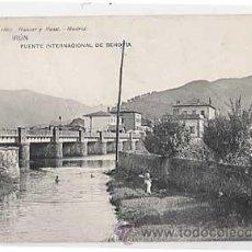 Postales: GUIPUZCOA. IRUN. PUENTE INTERNACIONAL DE BEHOBIA. HAUSER Y MENET 1807. REVERSO SIN DIVIDIR CIRCULADA. Lote 17361493