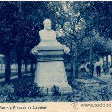 Postales: DEVA(GUIPUZCOA).-BUSTO Y ALAMEDA DE CALBETON. Lote 17437927