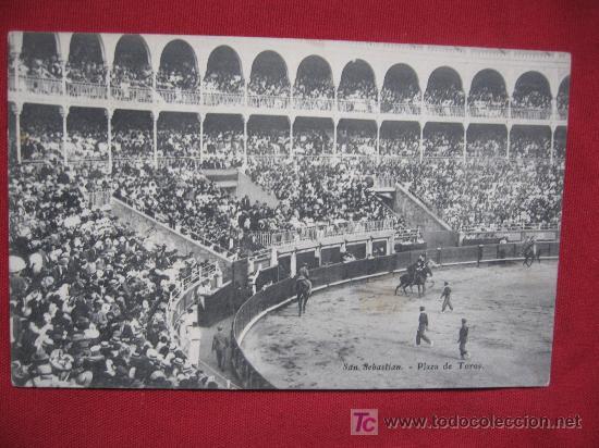 SAN SEBASTIAN - PLAZA DE TOROS (Postales - España - Pais Vasco Antigua (hasta 1939))