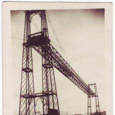 Postales: BILBAO: LAS ARENAS - PUENTE VIZCAYA. POSTAL FOTOGRÁFICA. L. ROISIN. CIRCULADA (1953). Lote 23697078