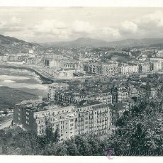 Postales: SAN SEBASTIAN. ENSANCHE DE GROS. POSTAL BLANCO Y NEGRO, SIN CIRCULAR, BRILLO, C. 1950.. Lote 27524568