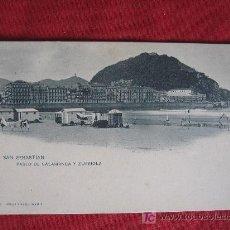 Postales: SAN SEBASTIAN - PASEO DE SALAMCA Y ZURRIOLA. Lote 18039839