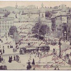 Postales: BILBAO: PASEO DEL ARENAL. LANDÁBURU HERMANAS. REVERSO SIN DIVIDIR. CIRCULADA (1903). Lote 24377759