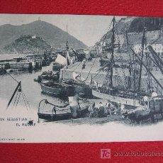 Postales: SAN SEBASTIAN - EL MUELLE. Lote 18270254