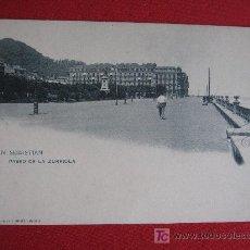 Postales: SAN SEBASTIAN - PASEO DE ZURRIOLA. Lote 18270456