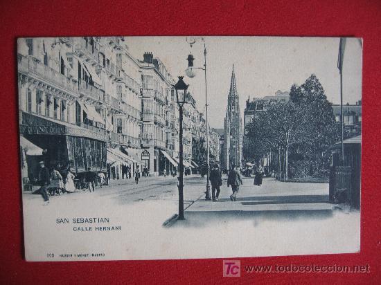 SAN SEBASTIAN -CALLE DE HERNANI (Postales - España - Pais Vasco Antigua (hasta 1939))