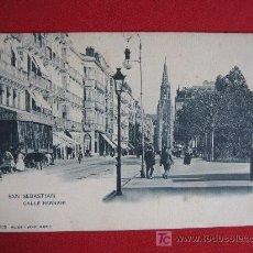 Postales: SAN SEBASTIAN -CALLE DE HERNANI. Lote 18270629