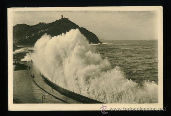 SAN SEBASTIAN - GRANDES MAREAS - FOTO GALARZA (Postales - España - País Vasco Moderna (desde 1940))