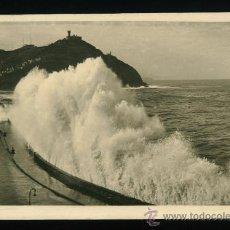 Postales: SAN SEBASTIAN - GRANDES MAREAS - FOTO GALARZA . Lote 18316439