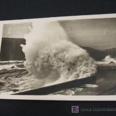 Postales: SAN SEBASTIAN - ROMPE OLAS - GRANDES MAREAS - AÑO 1955 -. Lote 18346215
