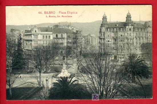 BILBAO, VIZCAYA, PLAZA ELIPTICA, P36527 (Postales - España - Pais Vasco Antigua (hasta 1939))