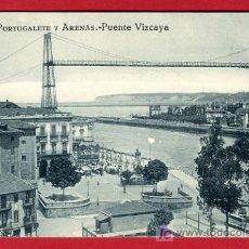 Postales: BILBAO, VIZCAYA, PORTUGALETE Y ARENAS, PUENTE VIZCAYA, P36528. Lote 18411070