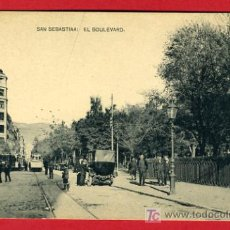 Postales: SAN SEBASTIAN, GUIPUZCOA, EL BOULEVARD, P36583. Lote 18412396