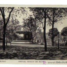 Postales: 66-BILBAO - ARENAL KIOSCO DE MÚSICA - L. ROISIN FOT. - CIRCULADA 19.02.1931-SELLO ALFONSO XIII. Lote 27387683