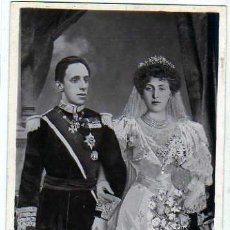 Postales: SS. MM. D. ALFONSO XIII Y VICTORIA EUGENIA. REYES DE ESPAÑA. EL DIA DE LA BODA. FOTOMONTAGE. BEAGLE. Lote 24456776