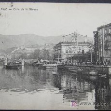 Postales: BILBAO – CALLE DE LA RIVERA – ALMACENES AMANN. Lote 25013766