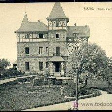 Postales: ZARAUZ : PALACIO DEL MARQUES DE SANTILLANA (ANTERIOR A 1905). Lote 25446016