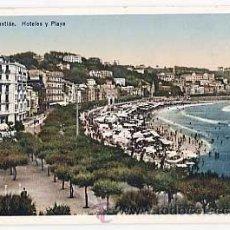 Postais: SAN SEBASTIAN. HOTELES Y PLAYA. FOTO EDITOR GONZALEZ GALARZA. SIN CIRCULAR. Lote 19675884