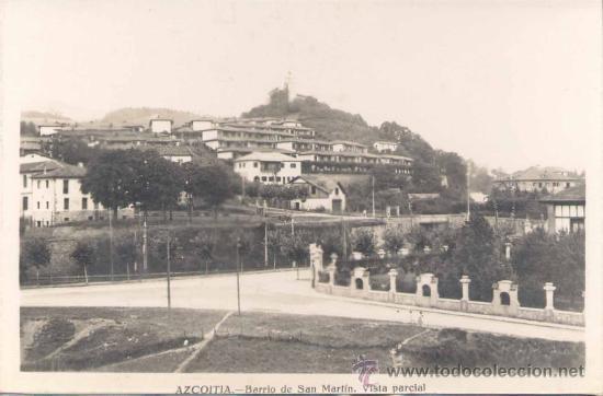 AZCOITIA (GUIPUZCOA).- BARRIO DE SAN MARTIN. VISTA PARCIAL (Postales - España - País Vasco Moderna (desde 1940))