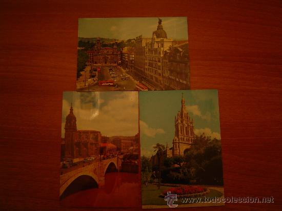 3 POSTALES BILBAO SIN CIRCULAR (Postales - España - País Vasco Moderna (desde 1940))