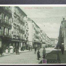 Postales: VITORIA. CALLE DE LA ESTACIÓN – V. B. CUMBO – KNACKSTEDT & NATHER. HAMBURG - SERIE 852 NO. 15. Lote 25425398