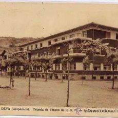 Postales: DEVA (GUIPUZCOA).- ESCUELA DE VERANO DE LA D. N. DE LA SECCIÓN FEMENINA. Lote 21152864