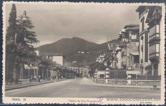 TOLOSA (GUIPUZCOA).- PASEO DE SAN FRANCISCO (Postales - España - País Vasco Moderna (desde 1940))